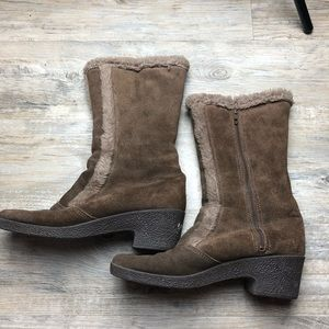 Yodelers vintage leather brown boots